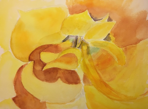 Watercolor: Abstractish Looking Yellow Flower
