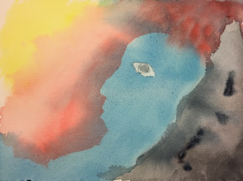 Watercolor: Abstract Expressionistic Portrait