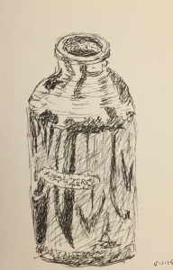 Pen and Ink - Aluminum Water Bottle
