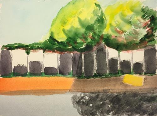Watercolor: 'Break' Painting Abstracted