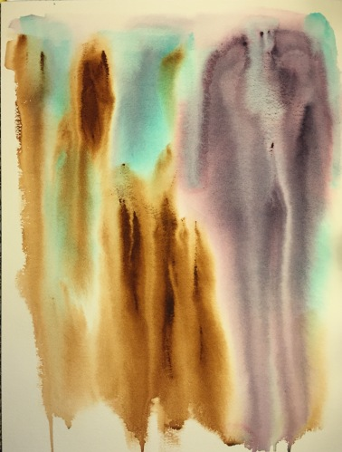 Watercolor: Abstract - Drip Painting