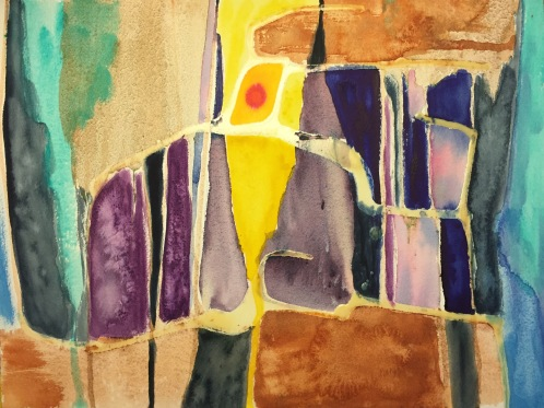 Watercolor: Abstract with Latex Resist