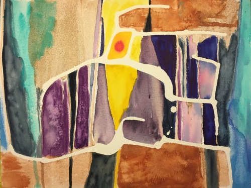 Watercolor: Abstract with Negative Spaces