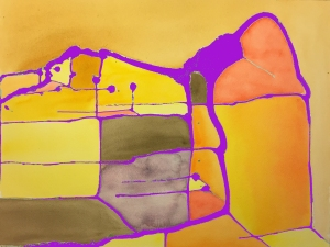 Watercolor: Abstract - Photoshopped to Add Purple