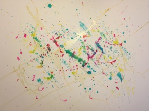Watercolor: Abstract - Stage 2, Latex Resist and Splatter