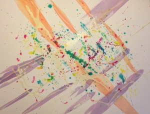 Abstract 060115 - Stage 3, Latex Resist, Splatter and Mixed Colors