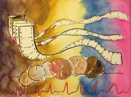 Watercolor: Abstract Expressionist Nostalgia