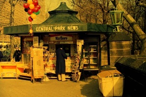 Photograph: Newsstand at Central Park and Columbus Circle