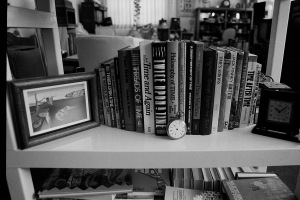 Photograph: Time Travel Books and Clocks