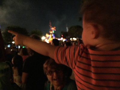 Photograph: William at the Fireworks
