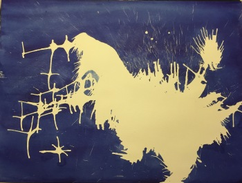 Watercolor: Abstract - Cosmic Chicken - Stage 1