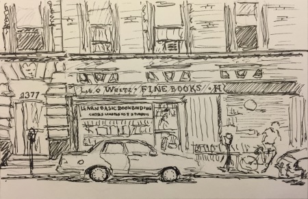 Ink Sketch: Leo Weitz Fine Books - Madison Ave, NYC