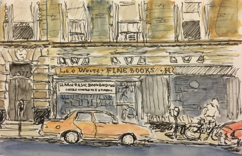 Watercolor: Leo Weitz Fine Books - Madison Ave, NYC