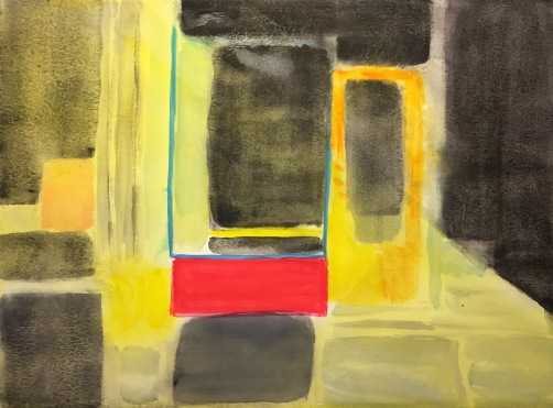 Watercolor: Abstract - Mondrian Storefront