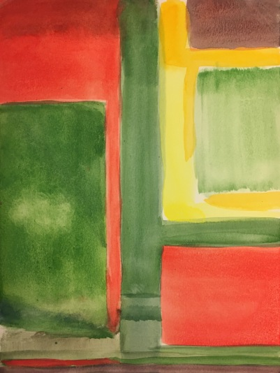Watercolor: Abstract 072415