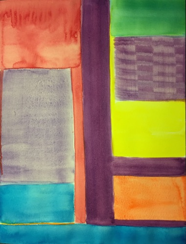 Watercolor: Abstract of Abstracted Abstract 072415