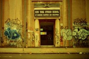 Photograph: NY Studio School with Graffiti