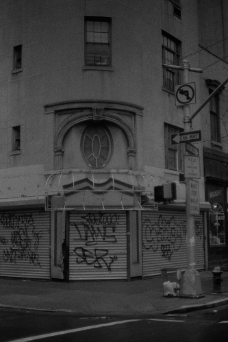 Photograph: Graffiti on the Corner of 26th and 3rd