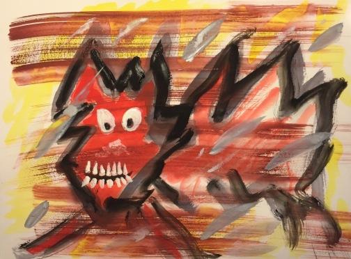 Watercolor: Graffiti Cat
