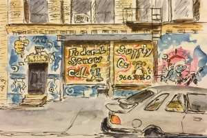 Watercolor: Federal Screw Supply Co. on Broome St. NYC