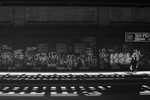Photograph: Graffiti Under the El on the Way to Brooklyn Museum