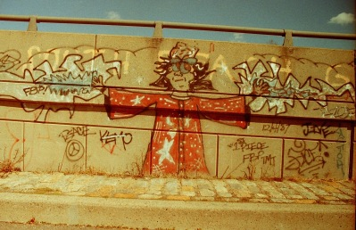 Photograph: Graffiti on the Side of an On Ramp