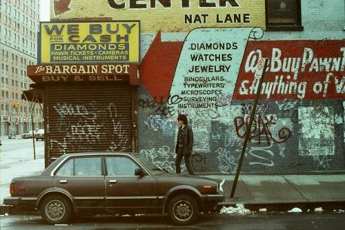 Photograph: Close up of Bargain Spot Graffiti Building