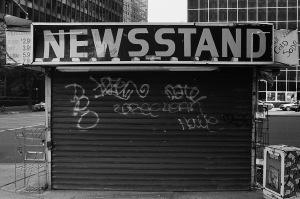 Photograph: Newsstand, Lower Manhattan