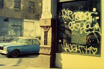 Photograph: Graffiti on Corner Building