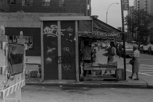 Photograph: Newsstand on the Way Back from Indian Independence Day Parade