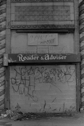 Photograph: Graffiti on Abandoned Coney Island Tarot Kiosk
