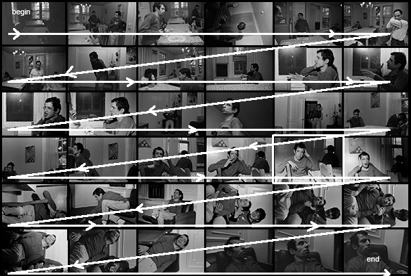 Photograph: Contact Sheet from 1992 at Mike's, Showing Time Sequence