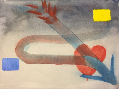 Watercolor: Abstract Representation of Objective and Subjective Time