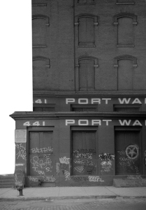 Photograph: Composite Photo of Upper and Lower Parts of Warehouse