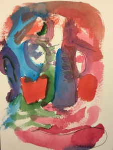 Watercolor: Abstract Action Portrait
