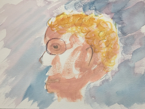 Watercolor: Abstract Portrait of Will