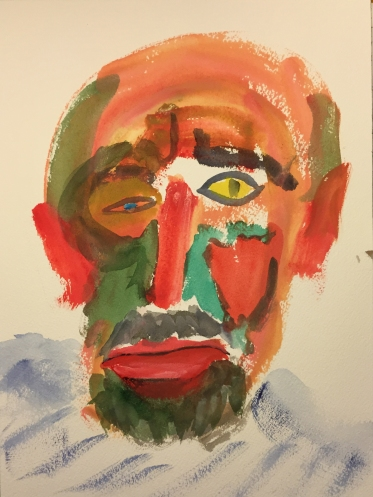 Watercolor: Abstract Portrait of Mike and Me