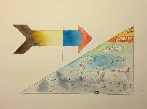 Watercolor: Representation of Kandinsky's Spiritual Triangle