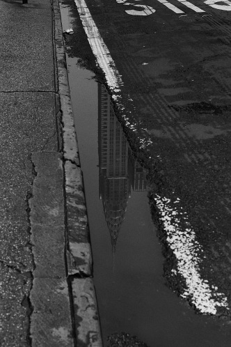 Photograph: Chrysler Building, Puddle Picture