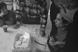 Photograph: Mike and his Birthday Cake, 1992