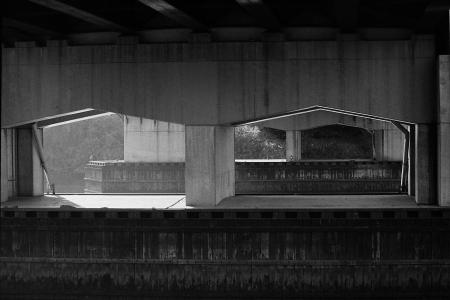 Photograph: Under a Bridge - Albany, NY, 1988