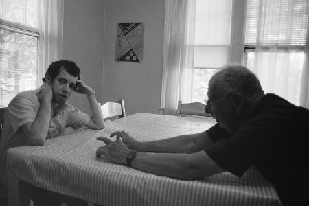 Photograph: Dad Reaching for Mike at Group Home