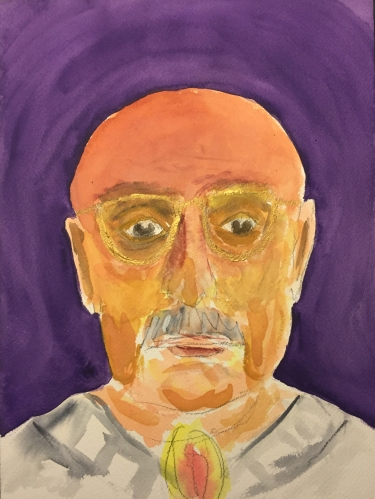 Watercolor: Portrait - Dad from Memory