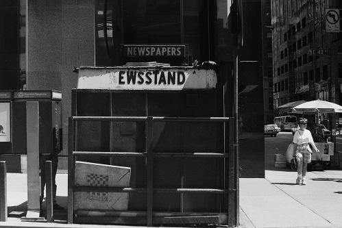 Photograph: Newsstand on 42nd Street