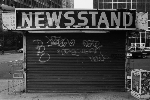 Photograph: Newsstand, Large Letters