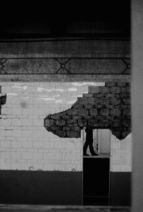 Photograph: NYC Subway Platform 1990s