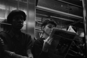 Photograph: People on R Train