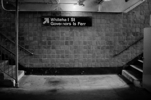 Photograph: Stairs Exiting Subway, Whitehall Street