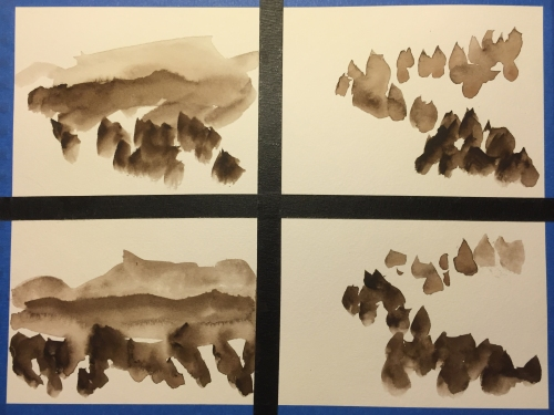 Watercolor Chart: Tone Study in Sepia
