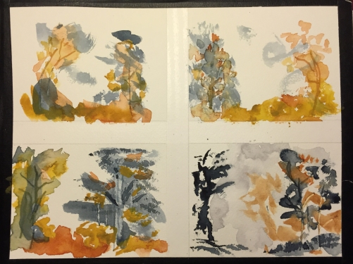 Watercolor Chart: 4 Panels of Composition and Color